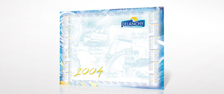 carte de voeux Delanchy Transport