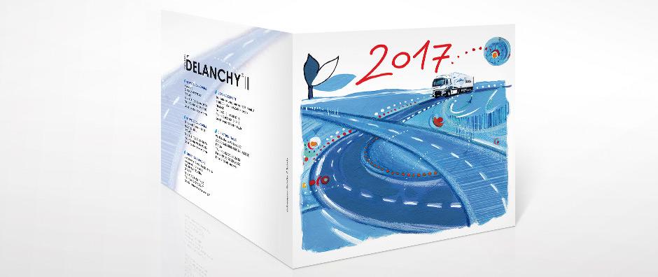 carte de voeux Delanchy transport